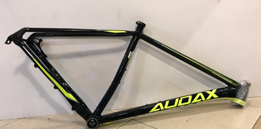 Quadro de Alumínio AUDAX Auge 555 - Preto/Verde - TAM. 19