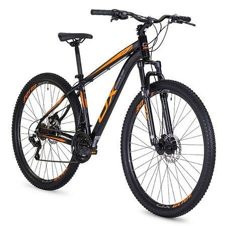 Bicicleta OGGI OX Glide Preto/Laranja/Grafite - Tam. 17
