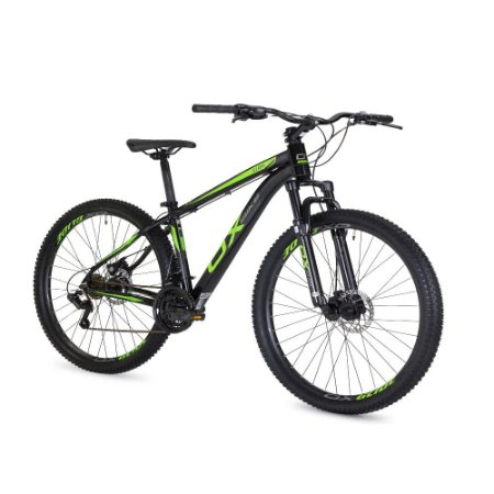 Bicicleta OGGI OX Glide Preto/Verde/Grafite - Tam. 19
