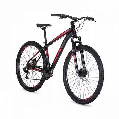 Bicicleta OGGI OX Glide Preto/Vermelho/Grafite - Tam. 17