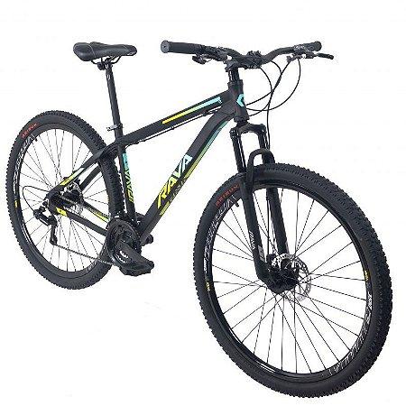 Bicicleta TSW Rava Pressure 21V Preto/Verde/Azul- Tam. 15