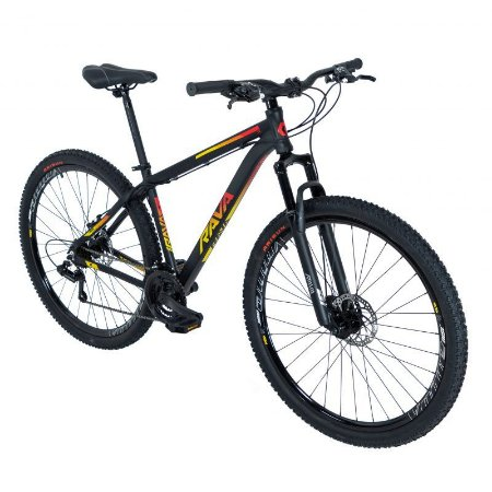 Bicicleta TSW Rava Pressure 21V Preto/Amarelo/Vermelho - Tam. 15