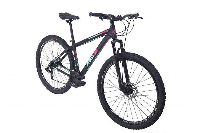 Bicicleta TSW Rava Pressure 21V Preto/Azul/Rosa - Tam. 15