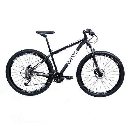 Bicicleta TSW Rava Pressure 27V Preto/Branco - Tam. 17