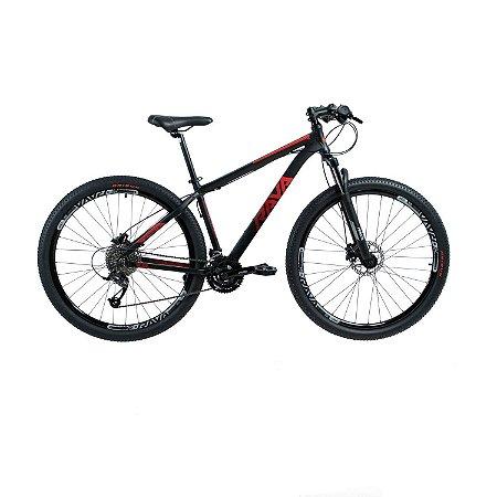Bicicleta TSW Rava Pressure 27V Preto/Vermelho - Tam. 19