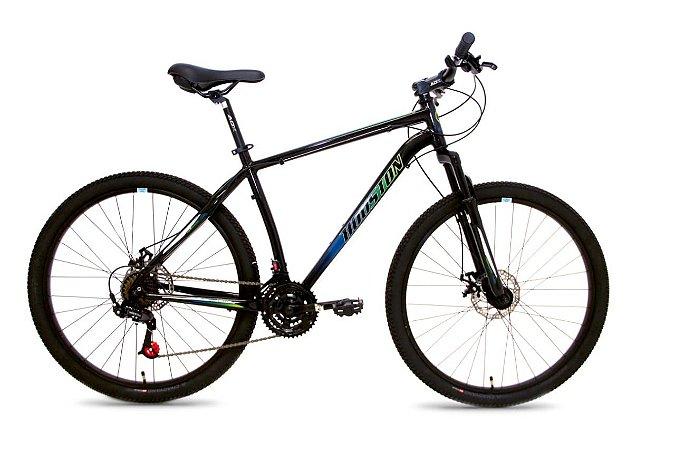 Bicicleta HOUSTON Mercury Sport Aluminio 27,5 Preto/Verde/Azul - Tam. 17