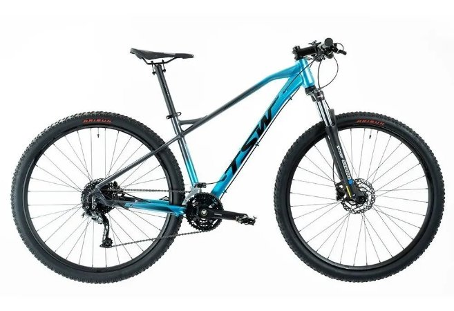 Bicicleta TSW Stamina 27V Preto/Azul - Tam. 15.5
