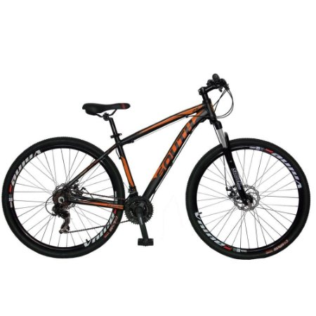Bicicleta SOUTH Legend Preto/Laranja - Tam. 15