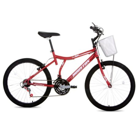 Bicicleta Houston Feminina Aro 24 Vermelha