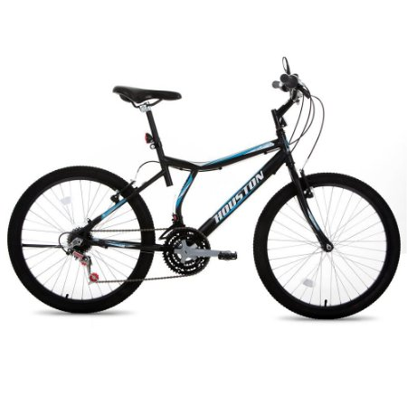 Bicicleta Houston Masculina Aro 24 Preta
