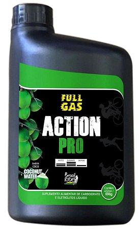Suplemento FULL GAS Pro Action Agua de coco - (Pote Gel 600G)