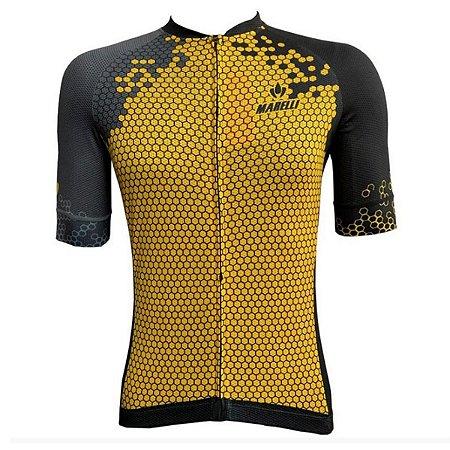 Camisa Marelli Europa Hexa - Amarela/Preta - Tam. G