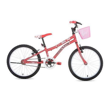 Bicicleta NINA Aro-20 Rosa Fosco c/ Cesta Rosa Fosco