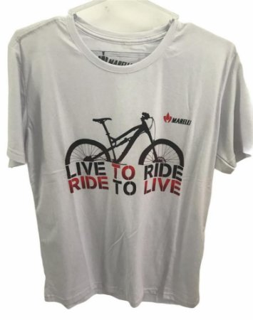 Camisa Casual MARELLI LIVE TO RIDE Branco Tam - M