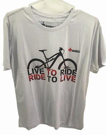 Camisa Casual MARELLI LIVE TO RIDE Branco Tam - G