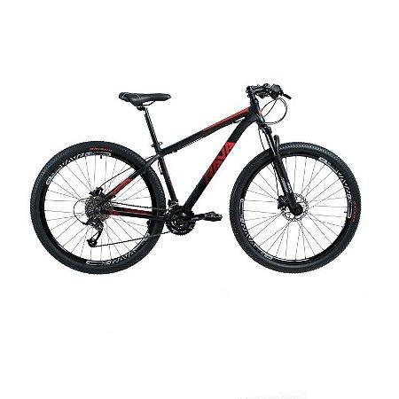 Bicicleta RAVA PRESSURE Aro 29 21V Preto/Vermelho - Tam. 15.5