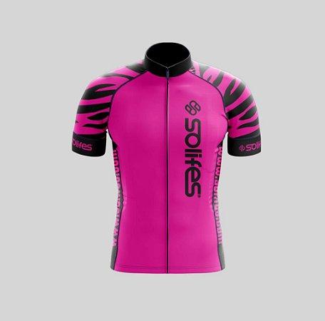 Camisa Ciclismo Rosa Mancha P