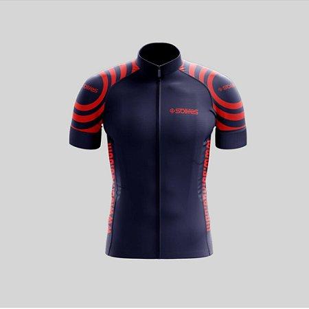 Camisa Ciclismo Azul c/ Laranja GG