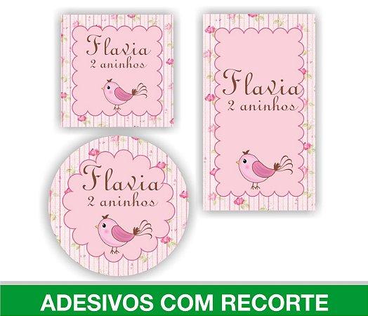 Adesivos Personalizados C/ Recorte Para Lembrancinhas de Aniversário / Chá de Fralda / QUALQUER MODELO