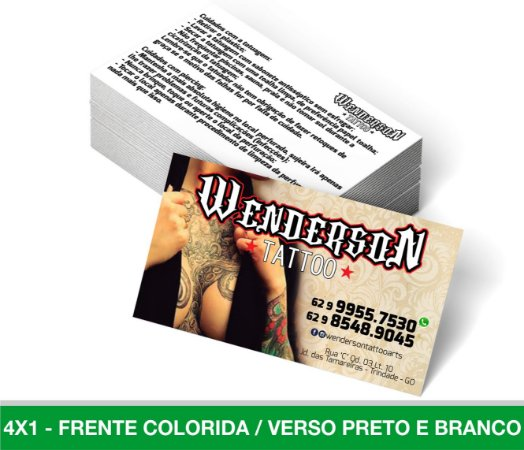 Cartão de Visita 1.500 Unid - Frente Colorida Verso Preto e Branco Papel 300g