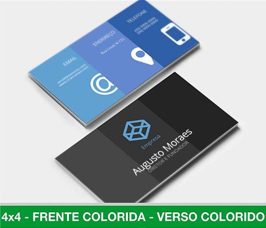 Cartão de Visita 500 Unid - LAM. FOSCA - Frente e Verso Coloridos
