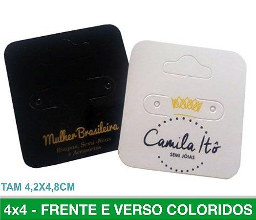 TAG Mini BIJOUX 1.000 unid - Frente e Verso Coloridos