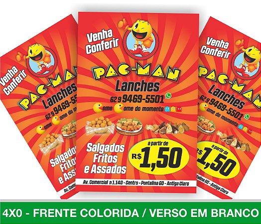 5.000 PANFLETOS 10x15cm - Frente Colorida - 4x0 - Papel Couche 90g