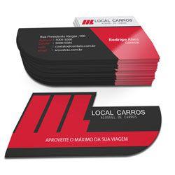 1.000 Cartões de Visita Foscos e Verniz Localizado Com Corte Especial