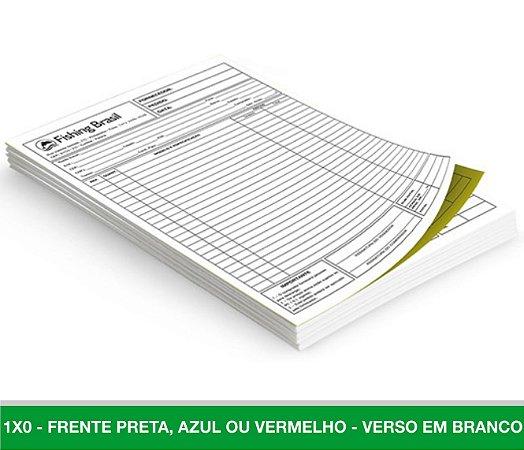 10 Blocos de Pedido / Orçamento c/ 100 unidades cada - Tamanho A4 Copiativos