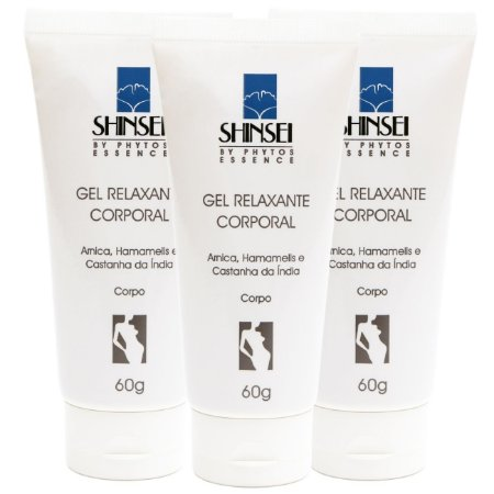 Kit Gel Relaxante Corporal Shinsei 60g - 3 Unid