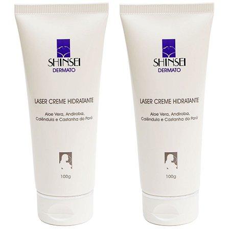 Creme Hidratante Facial pós Laser CO2 100g - 50% na 2ª UNIDADE