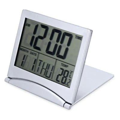 Relógio LCD despertador e calendário