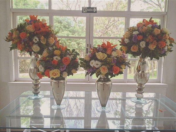 Arranjos com flores Laranja ou Champagne