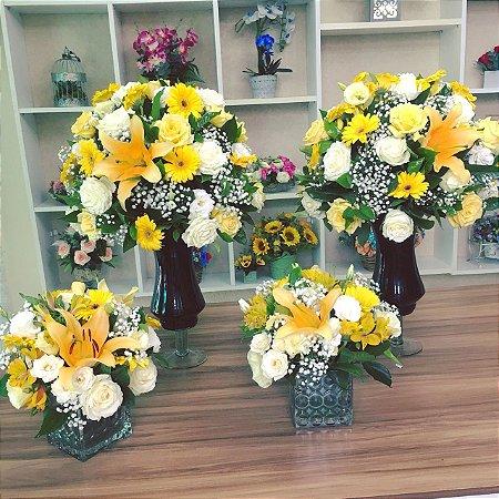 Arranjo de Flores Amarelas modelo 4