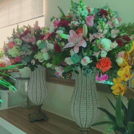 Arranjo com Flores cor-de-rosa modelo 3