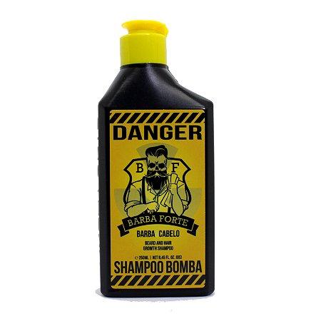 Shampoo Bomba Barba e Cabelo Danger Barba Forte 250ml