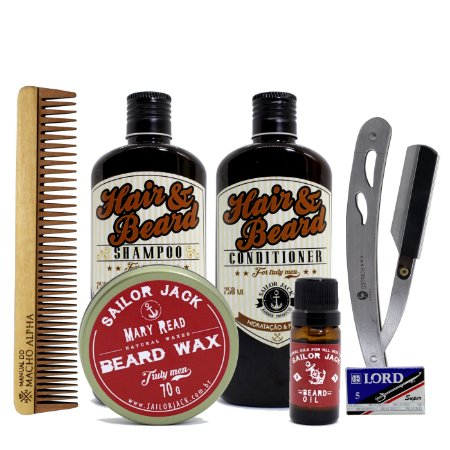 Kit Sailor Jack para cuidados com a Barba
