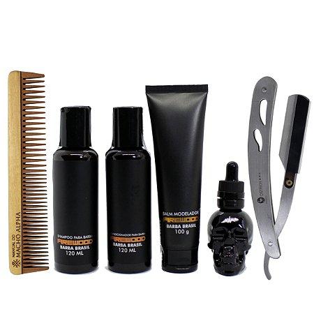 Kit Barba Brasil FIREWOOD cuidado completo com a barba