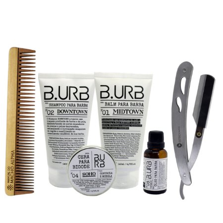 Kit Barba Urbana cuidado completo com a barba