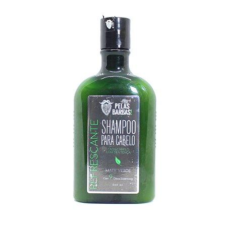 Shampoo para cabelo refrescante Mate Verde - Pelas Barbas 240ml