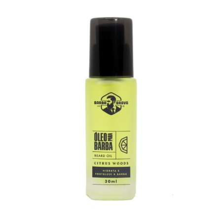 Óleo para barba Citrus Woods Barba Brava - 30ml