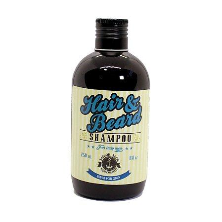 Shampoo para barba e cabelos grisalhos Silver for Gray - Sailor Jack 250ml