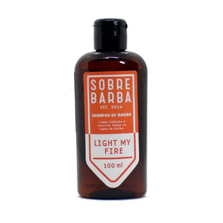 Shampoo para Barba Sobrebarba 100ml - Light my Fire