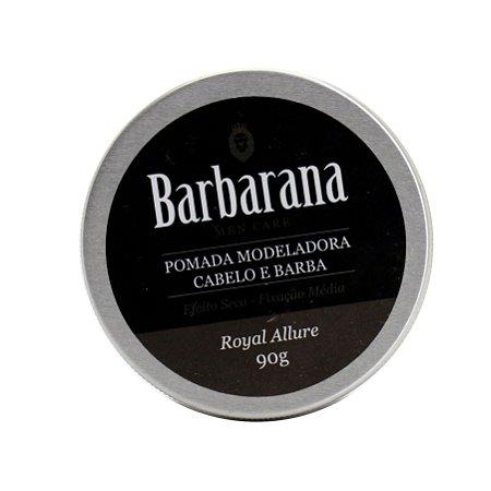 Pomada modeladora Barba e Cabelo Royal Allure - Barbarana - 90g