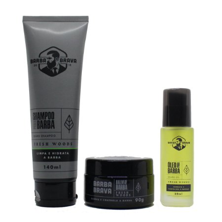 Kit cuidado completo para barba Fresh Woods Barba Brava