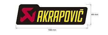 Adesivo Akrapovic 150X344M
