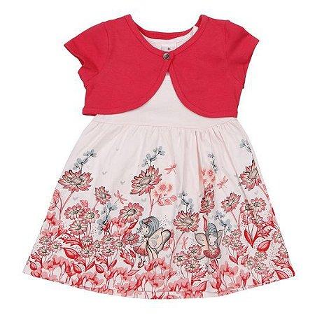 Conjunto de vestido floral e bolero - Brandili