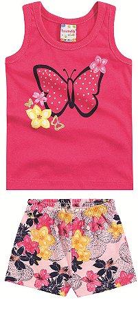 Conjunto feminino short e camiseta - Brandili