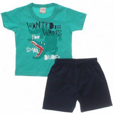 Conjunto masculino bermuda e camiseta de manga curta - Brandili