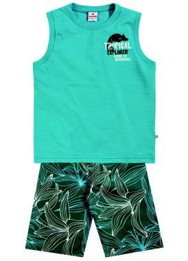 Conjunto masculino bermuda e camiseta regata - Brandili